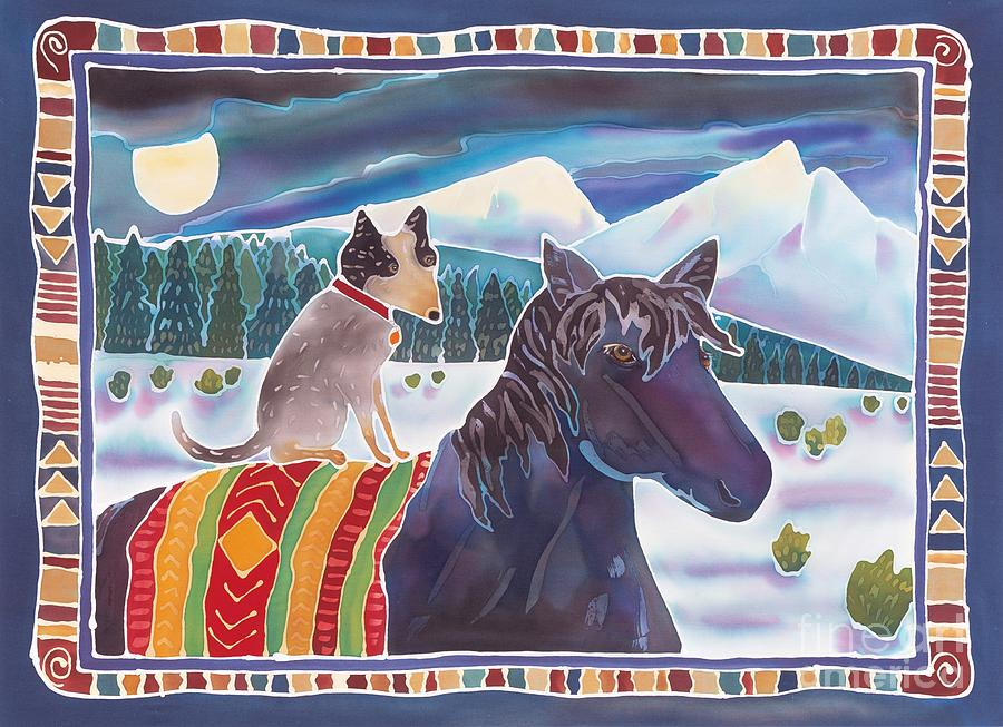 Horse Painting - Winter Ride by Harriet Peck Taylor