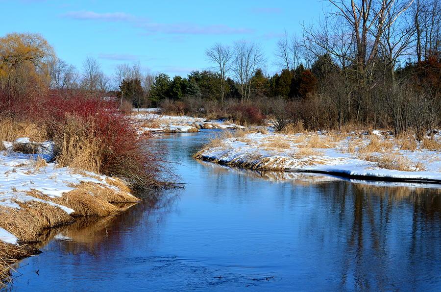River Photograph - Winter River1 by Jennifer  King