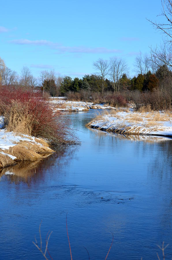 Rivers Photograph - Winter River2 by Jennifer  King