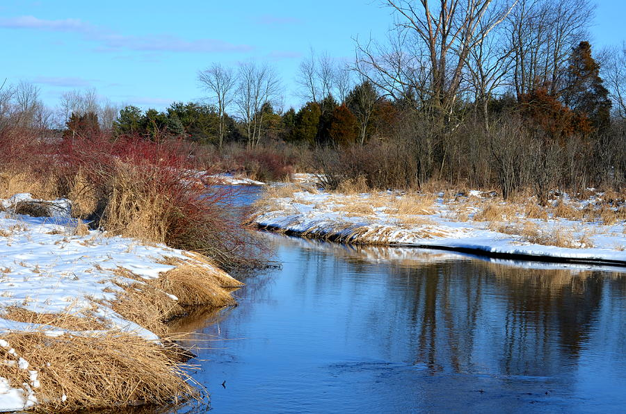 Rivers Photograph - Winter River3 by Jennifer  King