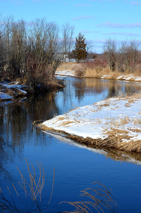 Rivers Photograph - Winter River4 by Jennifer  King
