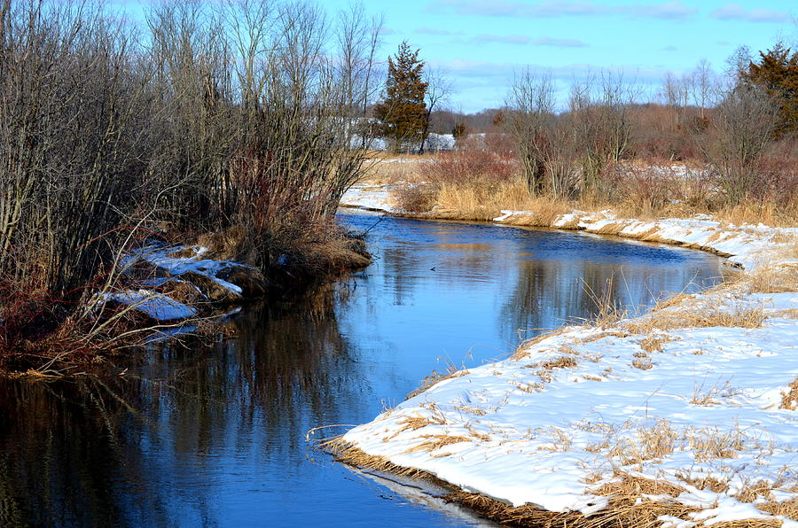Rivers Photograph - Winter River5 by Jennifer  King