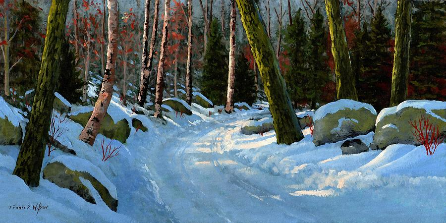 Winter Road Painting - Winter Road by Frank Wilson