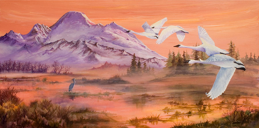 Mount Baker Painting - Winter Sanctuary by Sherry Shipley