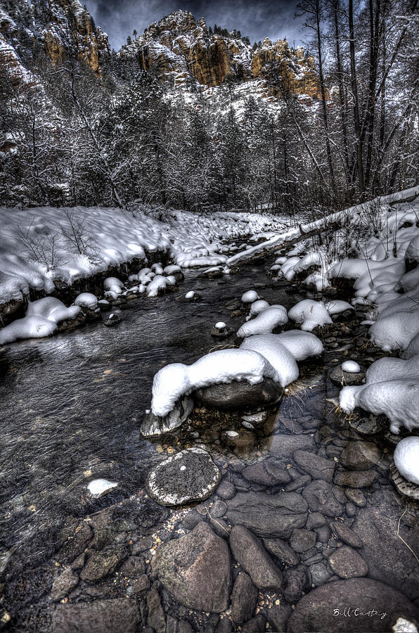 Winter Landscape Photograph - Winter Scene by Bill Cantey