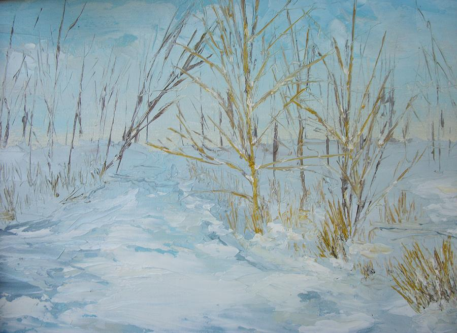 Landscape Painting - Winter Scene by Dwayne Gresham