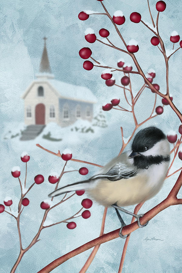 Winter Scene I by April Moen