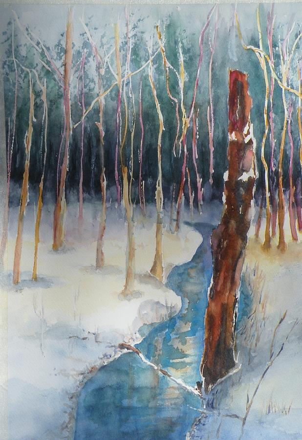 Landscape Painting - Winter Scene by Lori Chase