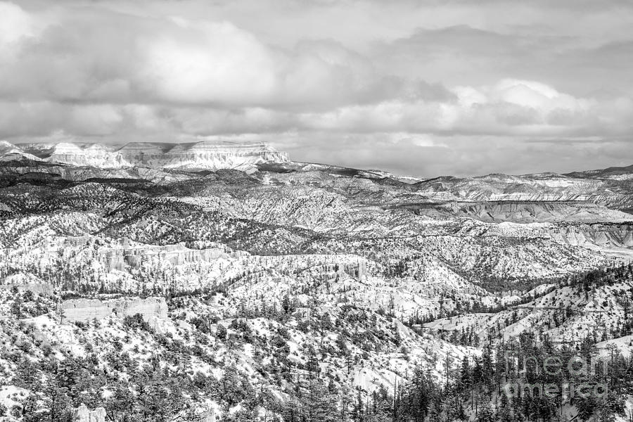 Travel Photograph - Winter Scenery In Bryce Canyon Utah by Julia Hiebaum