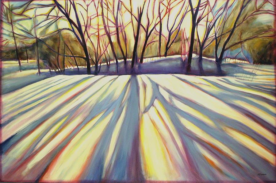 Winter Painting - Winter Shadows by Sheila Diemert