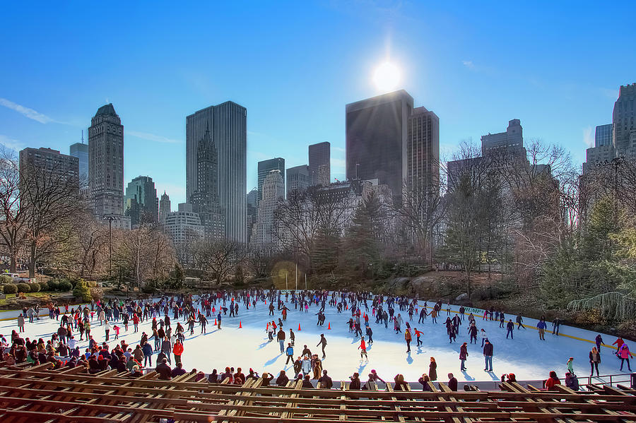 Winter Skating In Central Park Photograph by Andrew Thomas