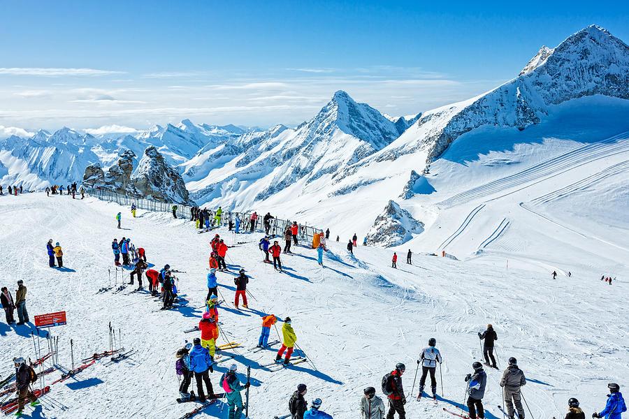 Winter Ski Resort Hintertux, Tirol, Austria Photograph by Mbbirdy