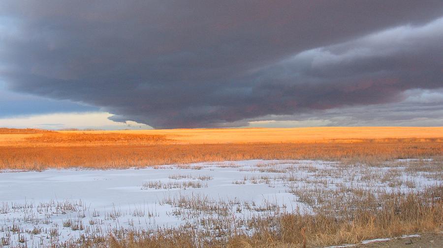 Sky Photograph - Winter Sky Alberta  by Susan Copley