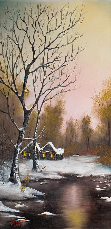Landscape Painting - Winter Solace by Chris Steele
