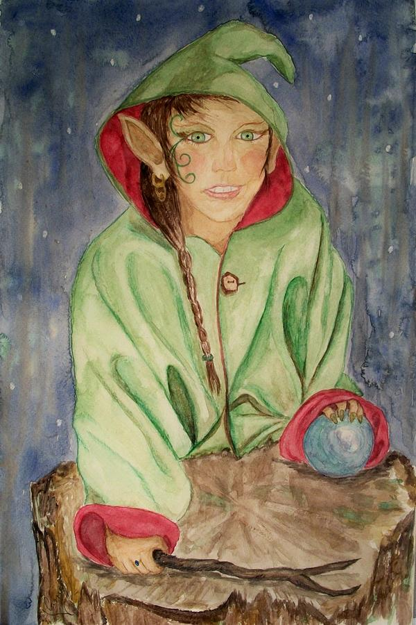 Faerie Painting - Winter Solstice by Carrie Viscome Skinner