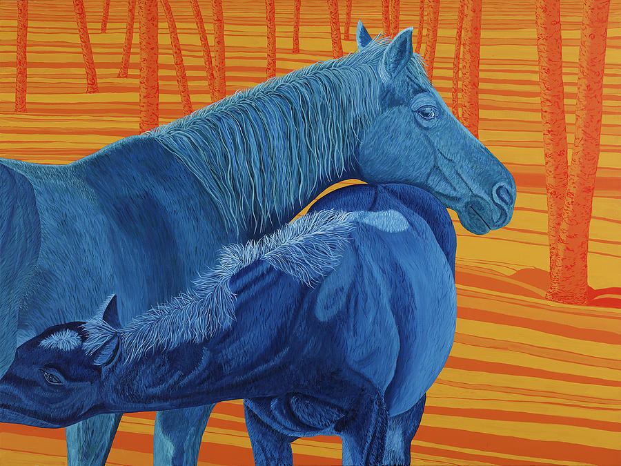 Horses Painting - Winter Solstice by Heather McLean