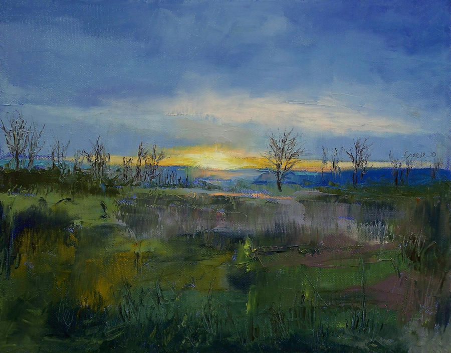 Winter Painting - Winter Solstice by Michael Creese