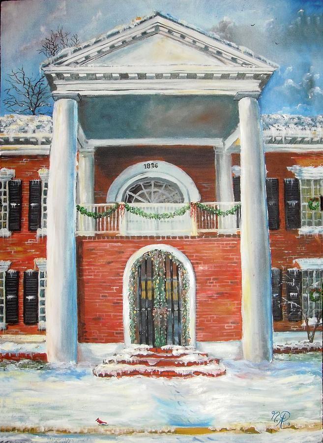 Winter Painting - Winter Spirit In Dahlonega by Nicole Angell