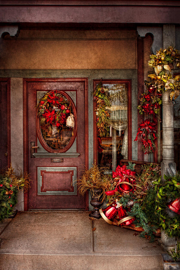 Winter Photograph - Winter - Store - Metuchen Nj - Dressed For The Holidays by Mike Savad