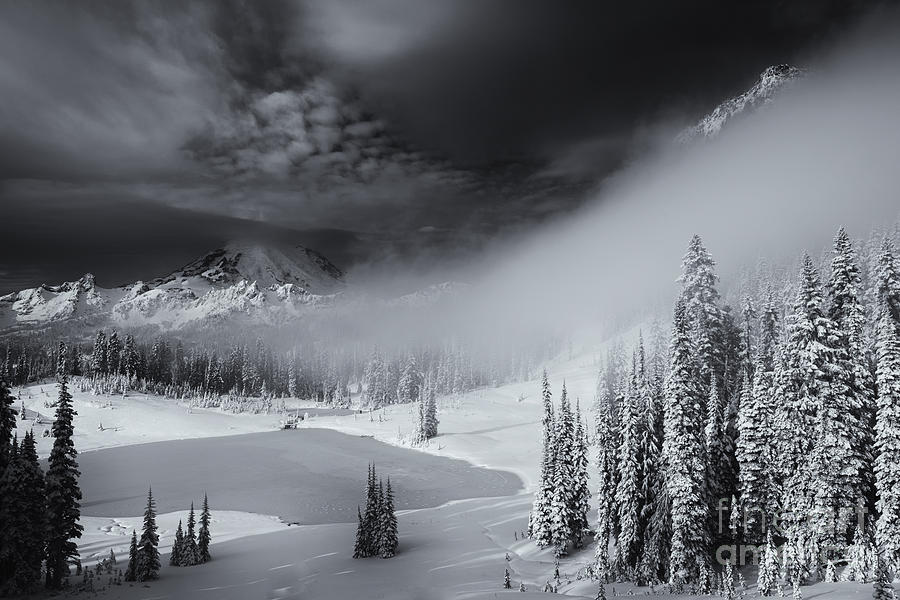 Winter Photograph - Winter Storm Clears by Mike  Dawson