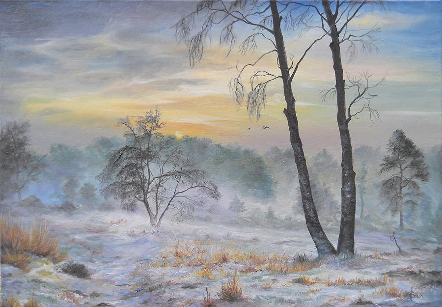 Winter Storm Painting