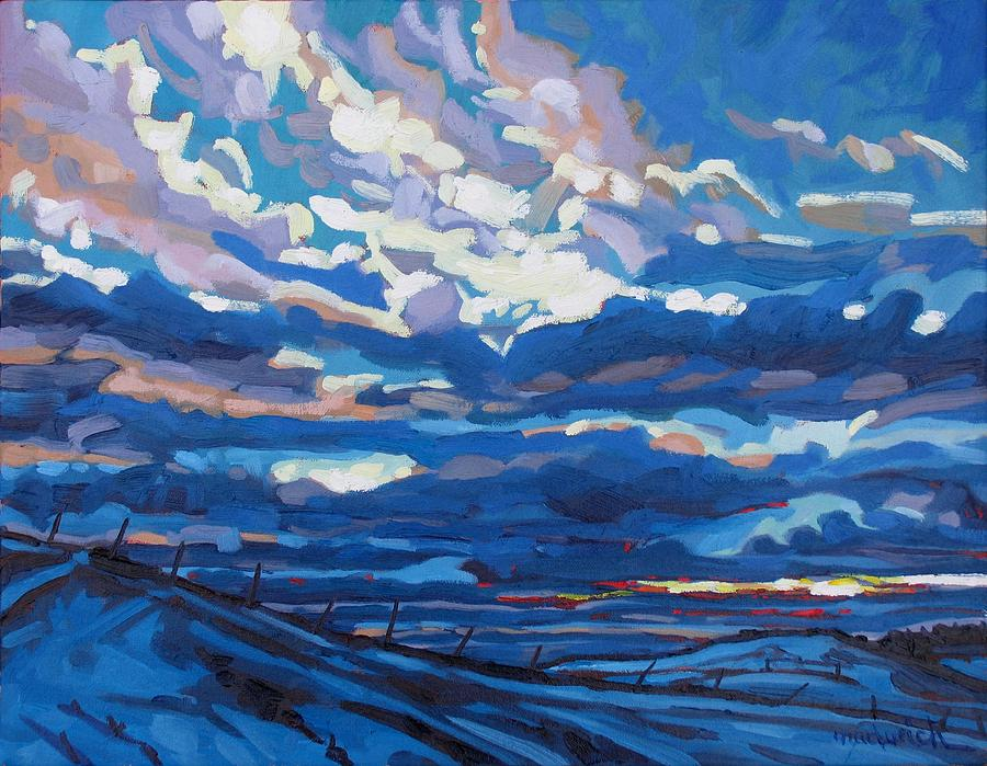Sunset Painting - Winter Stratocumulus by Phil Chadwick