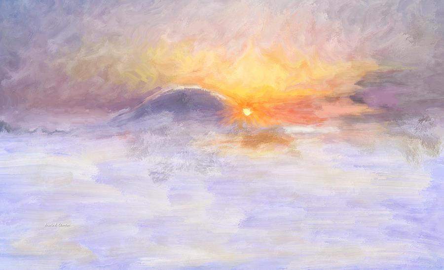 Winter Sun Painting