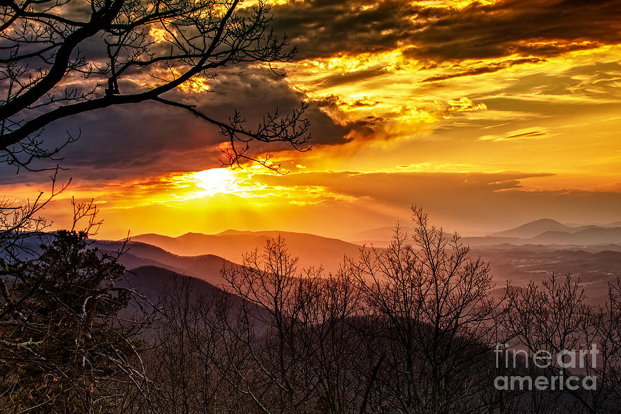 Blue Ridge Parkway Photograph - Winter Sun by Mark East