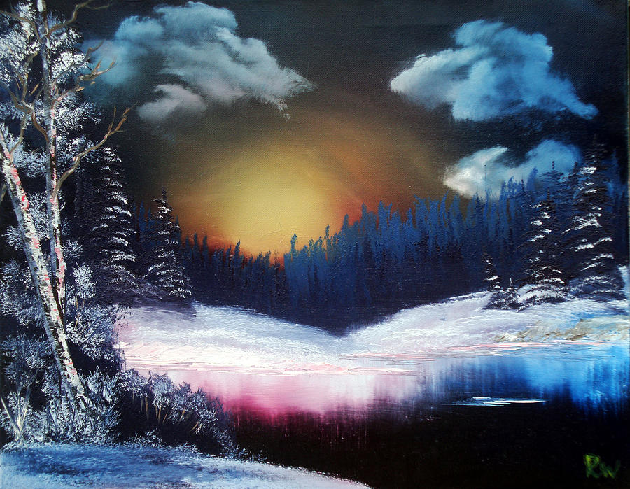 Landscape Painting - Winter Sun Rise by Ryan Wells