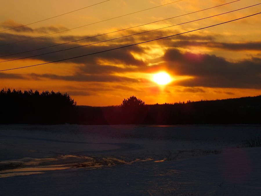 Sunset Photograph - Winter Sun Sets 4 by Gene Cyr
