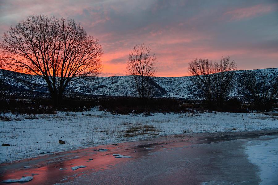 Sunrise Photograph - Winter Sunrise by Chad Dutson