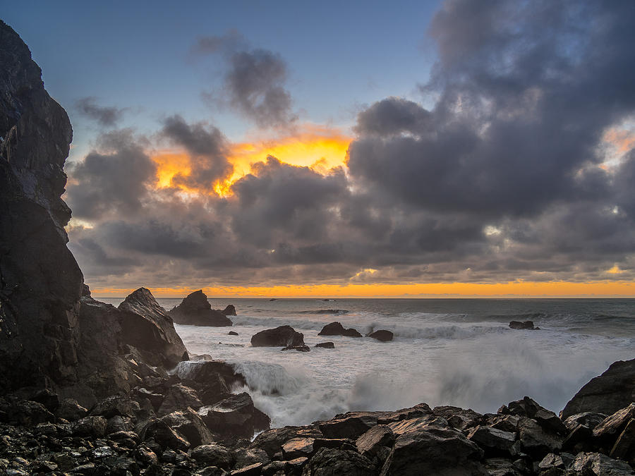 Patrick's Point State Park Photograph - Winter Sunset At Patricks Point by Greg Nyquist