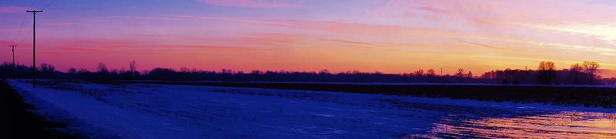 Winter Sunset  Photograph by Daniel Thompson