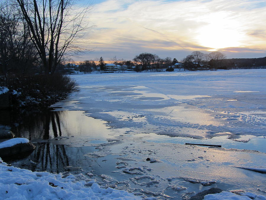 Winter Photograph - Winter Sunset by Deborah Flusberg