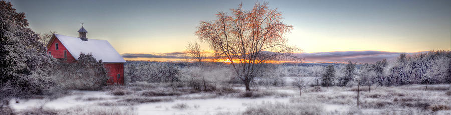 Winter Photograph - Winter Sunset by Don Powers