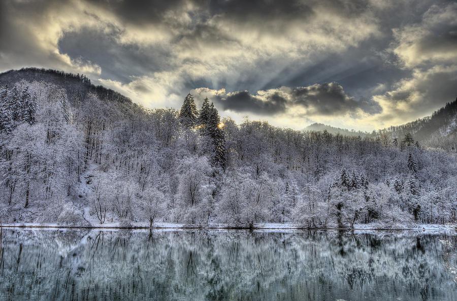 Winter sunset by Ivan Slosar