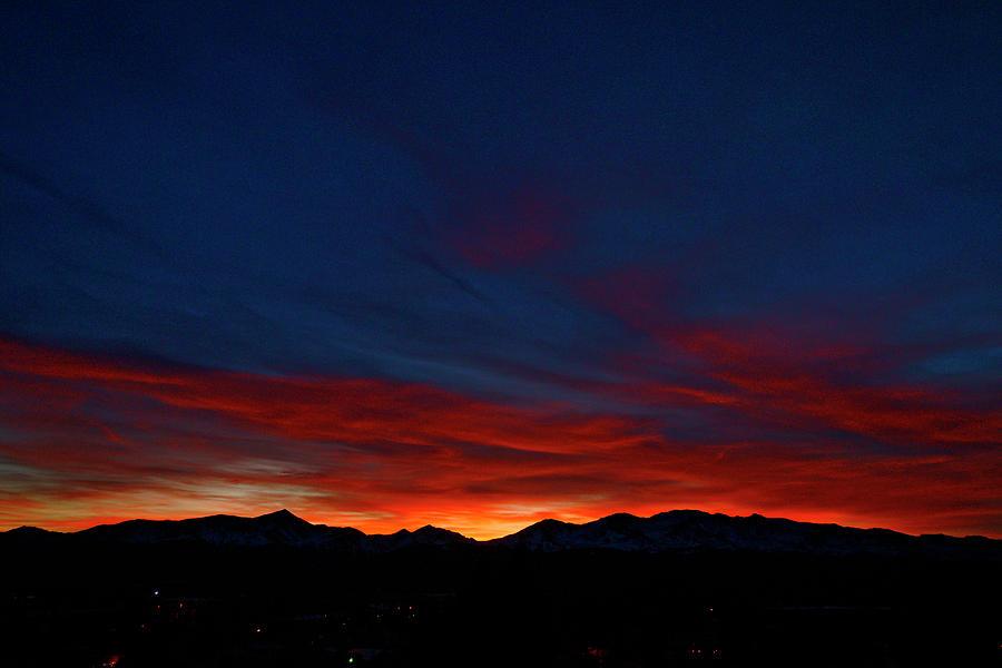 Landscapes Photograph - Winter Sunset by Jeremy Rhoades