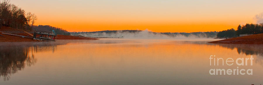 Sunrise Photograph - Winter Sunset by Michael Waters