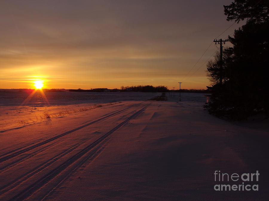Winter Sunset by Rural America Scenics