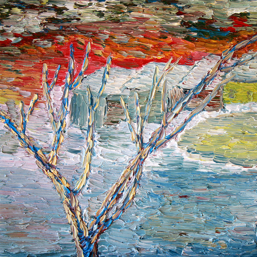 Winter Painting - Winter Sunset by Vadim Levin