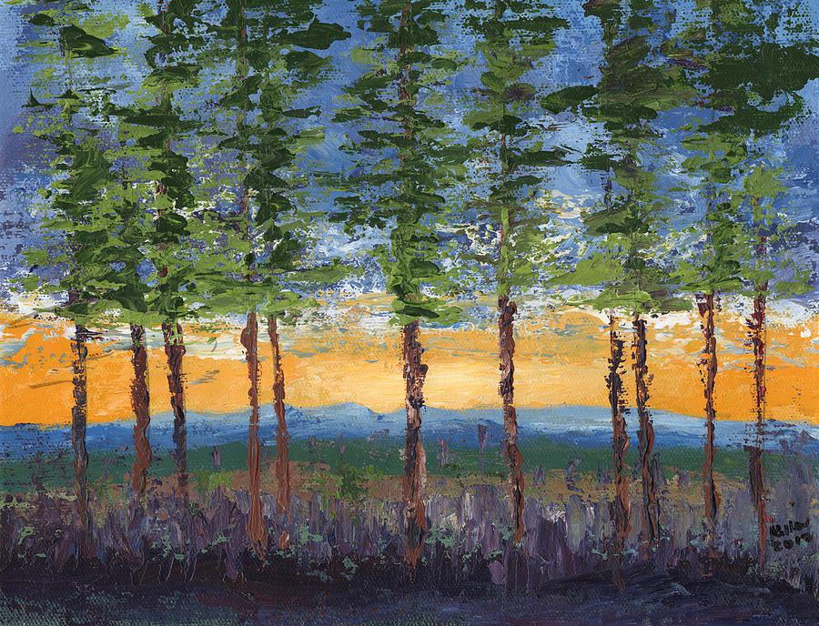 Surrealist Painting - Winter Sunset by William Killen