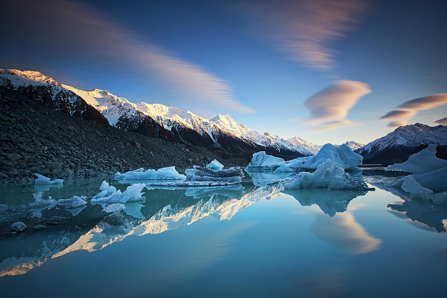 Icebergs Photograph - Winter Symmetry by Yan Zhang