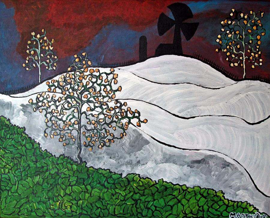 Abstract Painting - Winter Thaw by Matthew  James