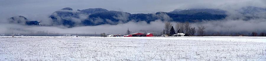 Winter Snows Panoramic Maple Ridge, British Columbia Photograph