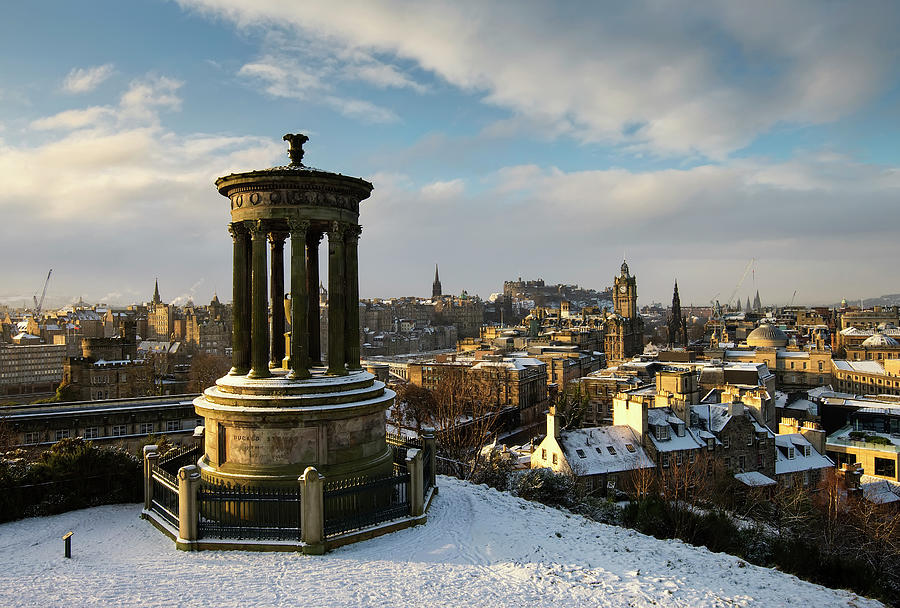 Winter View Edinburgh Photograph by Bluefinart