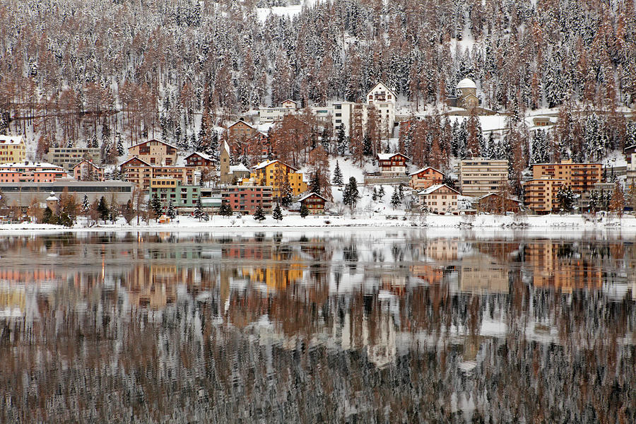 Winter View Of Saint Moritz Photograph by Massimo Pizzotti