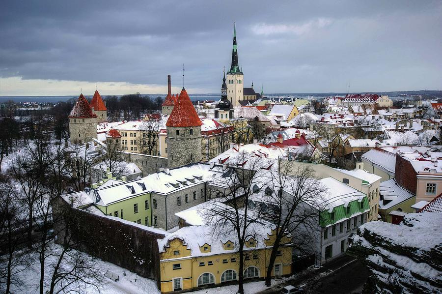 Winter View Of Tallinn, Estonia Photograph by Mariusz Kluzniak