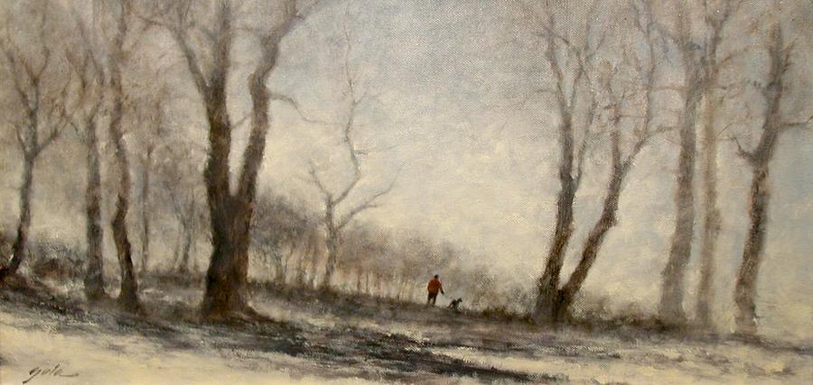 Landscape Painting - Winter Walk by Jim Gola