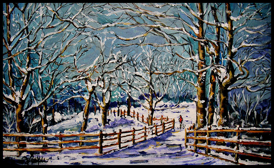 Winter Painting - Winter Walk by Vickie Warner