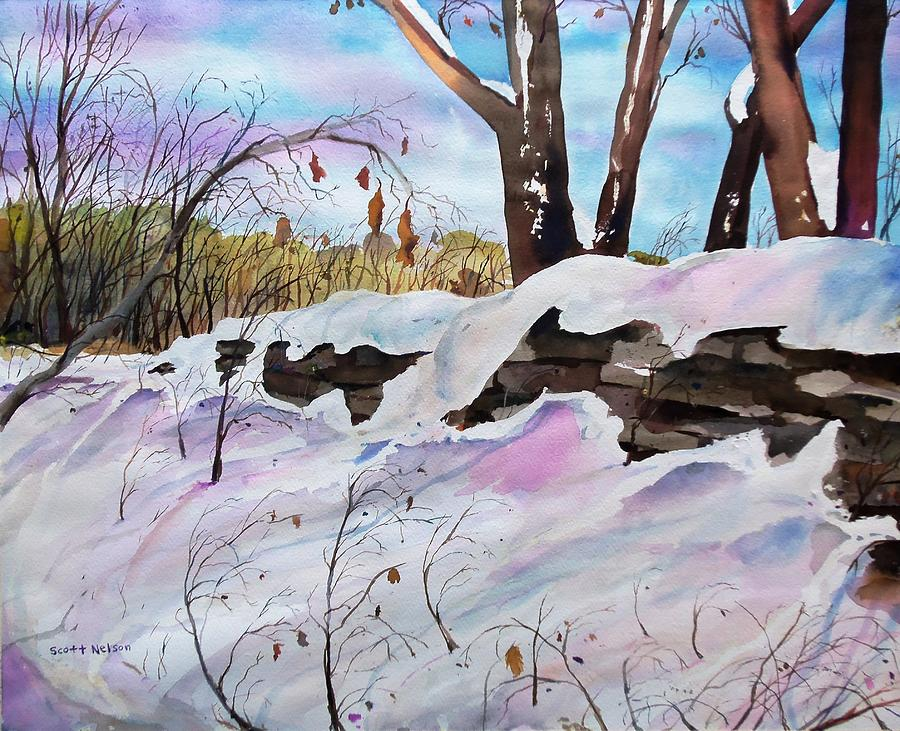 Winter Painting - Winter Wall  by Scott Nelson